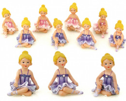 Box of 16 Ballerina Pendant Charms code  BAL2D