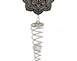 Treasures Box of 2 Silver Mandala Spiral code  MANDSPIR