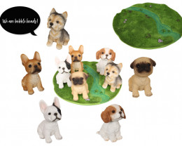 Treasures Box of 20 Bobble Head Dog on Grass Display code  DOGBOBPK