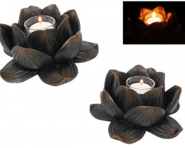 Treasures Box of Two  Lotus Flower Candle Holder code  BUDDLOTL