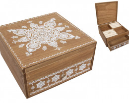 Treasure chest Boho Mandala Jewellery Box with draw code  BOHOBOXJ