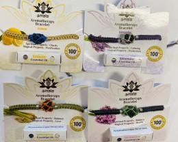 Aromatherapy Bracelets,4 Oils,  mix bracelets  code  BRAROMA