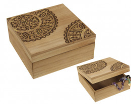 Mini chest Mandala Inlay cut Square  with tassel  Box MANDGSBOX