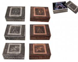 CeltiC BoXes ,6 pieces silver and copper tones  code BOXCEL3