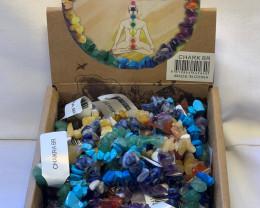Chakra bracelets display  box 25 bracelets  Code CHARKBR
