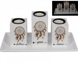 Display of 3 Piece Candle Holder code CANFYD3
