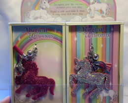 Magical Glitter Unicorn Key Ring display box 12 pcs   Code