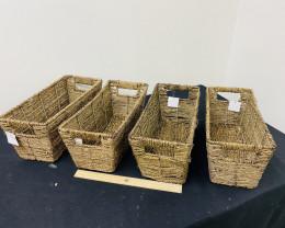 Xmas Hampers  set  4 Reed Baskets  code WILBWAT