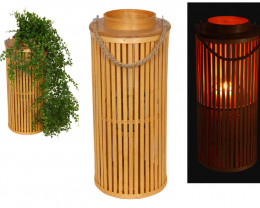 Rattan Tubular Plant Pot Holder or tea light Code  BAMNAPM
