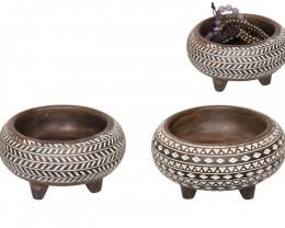 African Decor Bowl box of 2 pcs  Code BOWLSYS