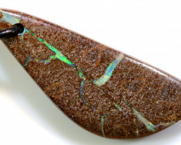 34.45 CTS BOULDER OPAL DRILLED PENDANT  AO-17