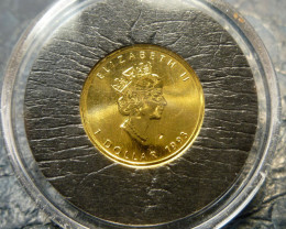 1993 Gold coin  1/20th  .9999 gold maple canadian coin CO1460