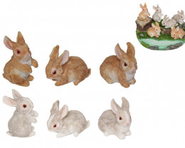 Rabbit Bunnies on Garden 36 pcs Code RABPACKS