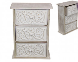 Scroll Finish 3 Drawer Cabinet 1pc  Code DRAWER3