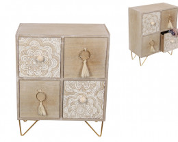 Mandala Cabinet 4 Drawer 1pc  Code MANDRWT