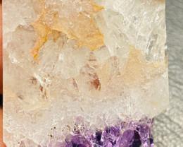 50 Cts Polished Sliced amethyst Crystal  CCC 143