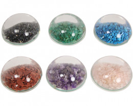 Half Moon Gemstone Paperweights 6 pcs  Code GEMPW