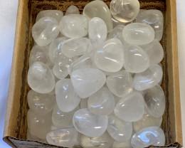Treasures Box of 50 Rock Quartz Tumbled Stones TUMRQUA