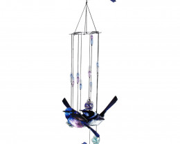 Purple/Blue Bird Windchime  2 pcs  Code WRENWCS