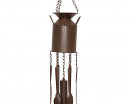 Rustic Iron Milk Can Windchime  Code CASTMILWC