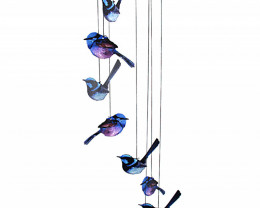 Purple/Blue Wren Windchime 2pcs  Code WRENWC