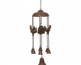 Farm Cast Iron Rooster Bell Windchime  Code CASTROOWC