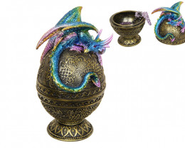 Colorful Dragon on Golden Egg Box  Code DRRAGGEGG