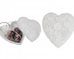 Lovers Jewelry Box White Heart  Code HEAWHPB