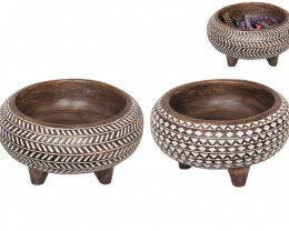 Double Syncopated African Bowl 2pcs   Code BOWLSYL