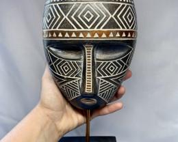 Decorative Tribal Batik African Mask  on stand  Code AFRMASKS