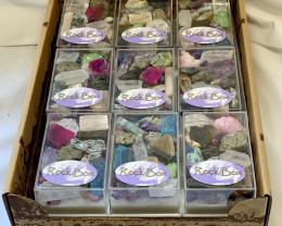 Treasures Box of Rocks and Minerals 18pcs Code  ROCKMSET