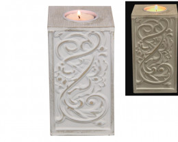 White Small Candle Holder  code CANWHIT