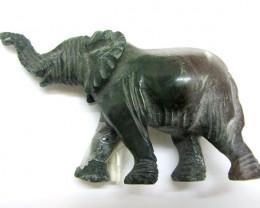 342 CTS SERPENTINE ELEPHANT TRIBAL CARVING MYGM 1465