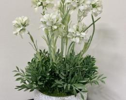 White Flower in Pot  Code FLWP2