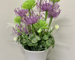 Purple  Potted Flower Code PLAWHPOT