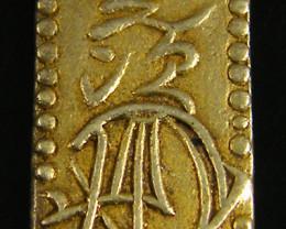 LARGE 3 GRAMS -MEIJI DYNASTY NIBUKIN GOLD COIN 1868-1869 JCC 7
