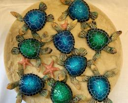 Treasure Box of Marble Turtle on Sandy 48pcs   Code TURTPACK