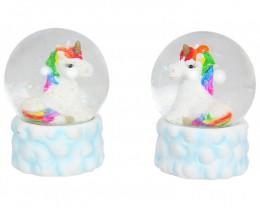 Glitter Rainbow Unicorn Waterball 1pc  Code UNIRAIWB