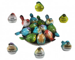 Treasure Box of Marble Inspirational Birds on display 36pcs   Code BIRDMSAY