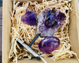Lovers  Amethyst Gemstone Box-Half Kilo weight  code CCC154