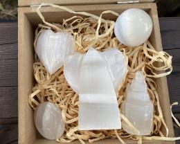 Lovers Selenite Gemstone Box-Half Kilo weight code CCC155