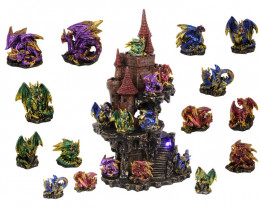 Treasure Box of Dragons on Lightup Castle display 48 pcs  Code DRAGPACL