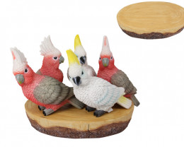 Red/White Cockatoo & Galah on display 24 pcs  Code BIRDPACK