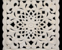 White MDF Lattice Wall Art - A  Code LATWA2
