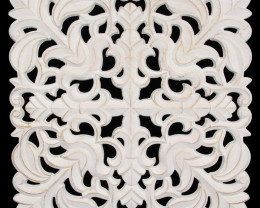 White MDF Lattice Wall Art - B  Code LATWA2