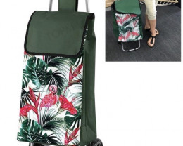 Shop  Red Green Rolling Canvas Bag -B  Code SHOPGREEN