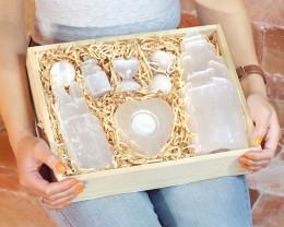Selenite Crystal Box Gift Set