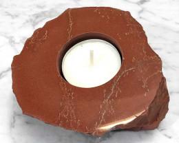 Red Jasper Slab Tealight Candle Holder – Polished
