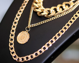 Bohemia Lightweight Gold  Plated necklace CCC 172
