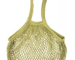 Green Cotton String Shopping Bag   code 35395